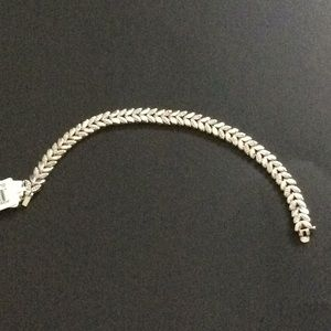 Jewelry - Sterling Silver Bracelet with genuine diamonds.